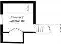 Plan mezzanine chalet
